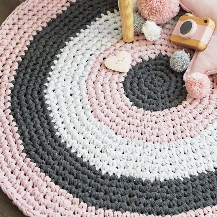 Как вязать коврики крючком по схемам вязания с видео и фото