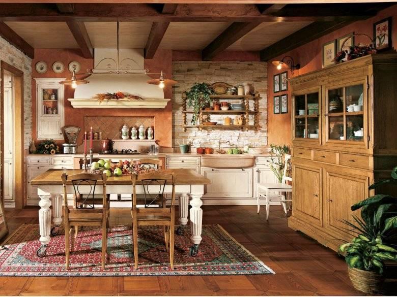 Кухня в деревенском доме (68 фото): идеи дизайна интерьера в старом сельском доме с печкой. экономвариант обустройства и отделки кухни в деревне