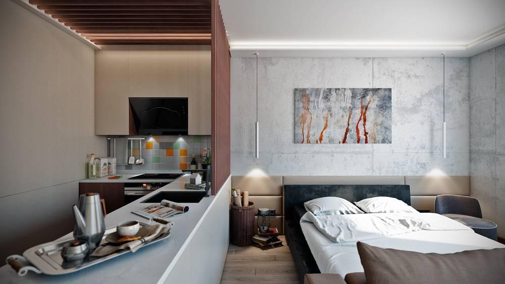 Дизайн квартиры 38 кв. м. – фото интерьера, зонирование, идеи обустройства