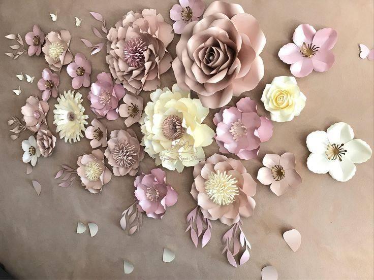 Большие цветы из бумаги своими руками. пошаговые инструкции + 500 фото