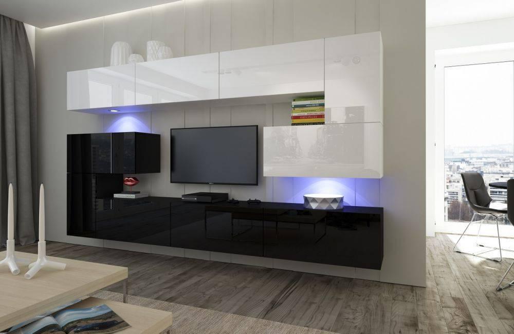 Глянцевая мебель в гостиную: варианты дизайна и советы по выбору