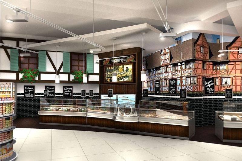 Дизайн продуктового магазина, фото