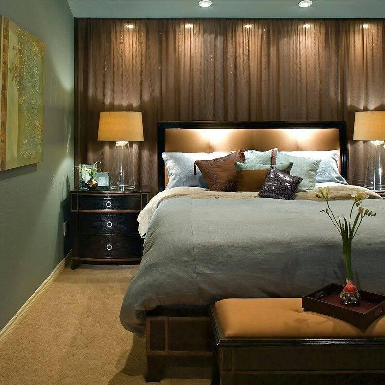 Коричневая спальня - необычное сочетание дизайна (105 фото)