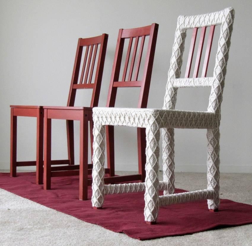 75 новых идей декора стульев своими руками: фото, видео