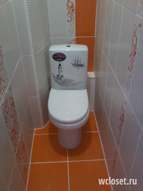 Ремонт в туалете с плиткой (11 фото)