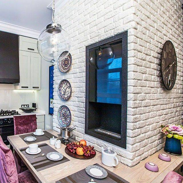 Кирпичная стена на кухне: идеи дизайна и примеры лучших интерьеров (40 фото)