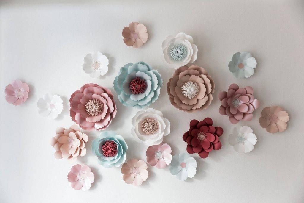 Бумажные цветы для декора: мастер-классы