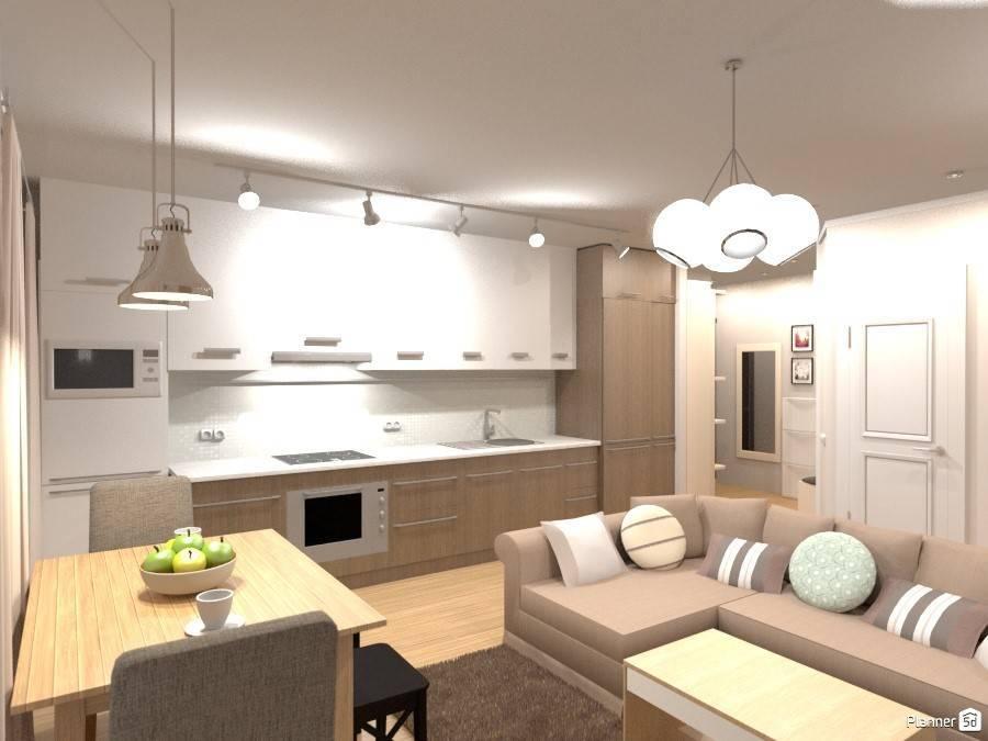 Дизайн кухни-студии площадью 15-17 кв. м.