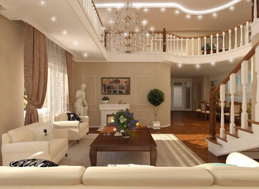 Интерьер частного дома – обзор вариантов создания эксклюзивного дизайна. проектирование стиля загородного дома