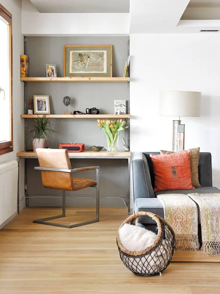 Гостиная с рабочим местом (78 фото): оформление интерьера рабочей зоны, совмещение кабинета и гостиной в одной комнате, дизайн и зонирование маленького зала