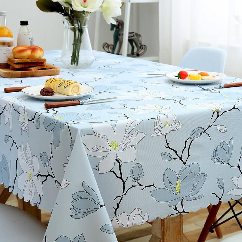 Красивые круглые скатерти на кухонный стол: критерии выбора материала
