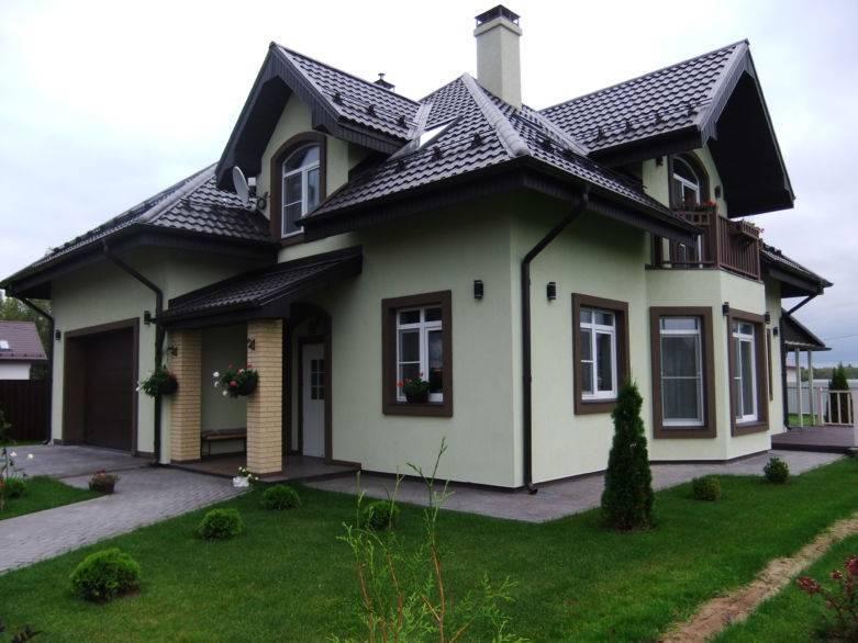 Виды отделки фасадов частных домов, фото подборка вариантов