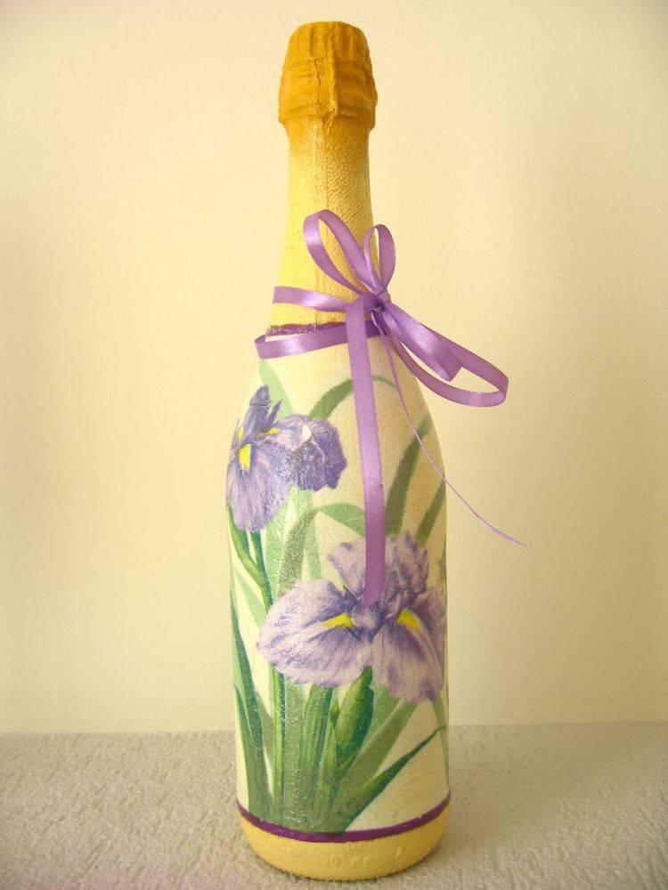 Декор бутылок: 110 фото стильного и современного декора и варианты оформления своими руками