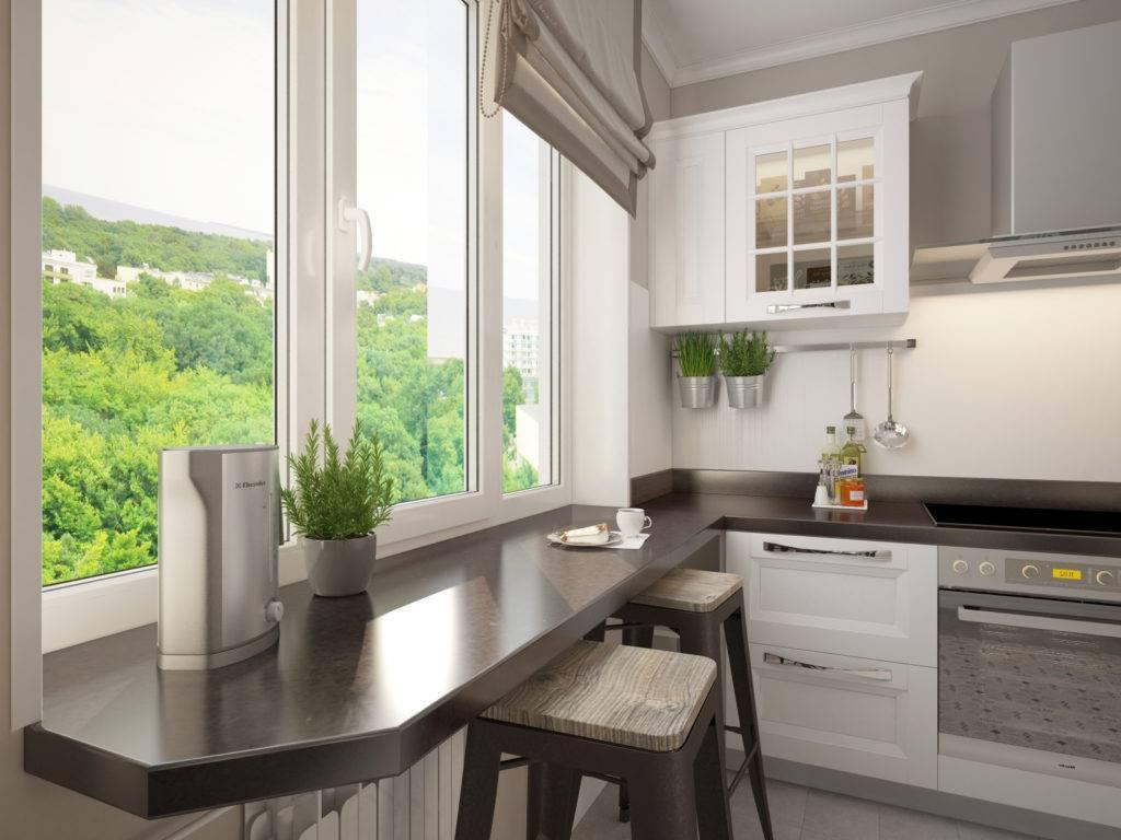 Подоконник-столешница: как сделать на кухне, в комнате, на балконе