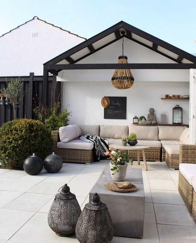 Ландшафтный дизайн двора в частном доме. 50 вдохновляющих фото