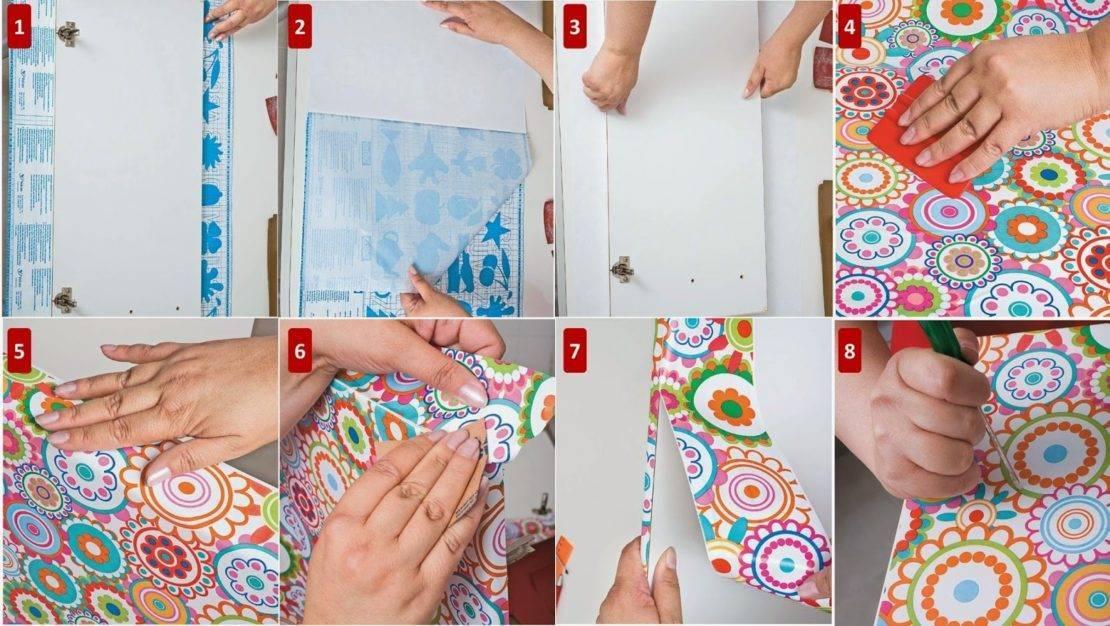 Самоклеющаяся пленка для мебели своими руками, фото и видео