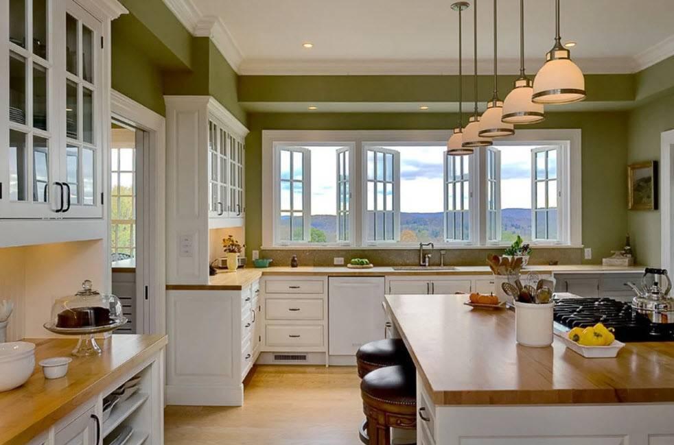 Дизайн столовой: проект кухни с зонированием, планировка  - 29 фото