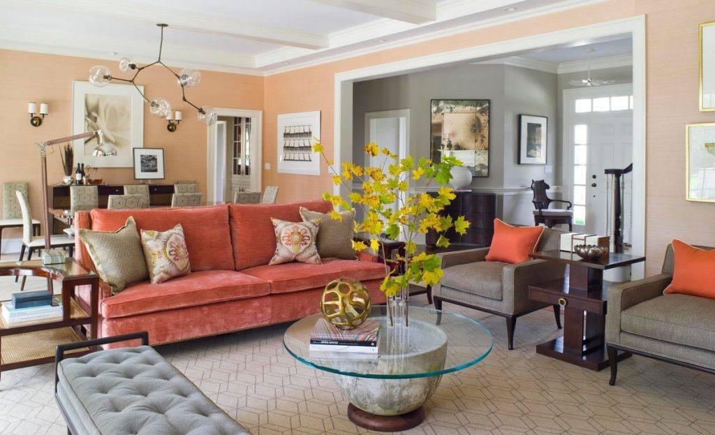 Персиковый цвет в интерьере: светлый, темный, нежный - сочетание с другими цветами - 54 фото