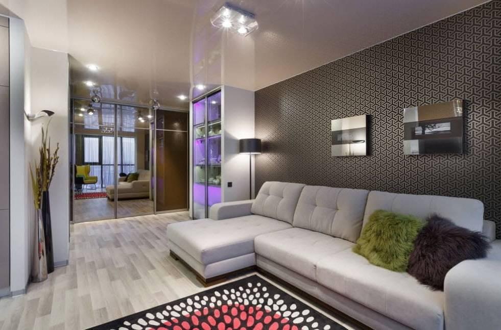 Гостиная 18 кв. м. - фото необычных дизайнерских решений в интерьере