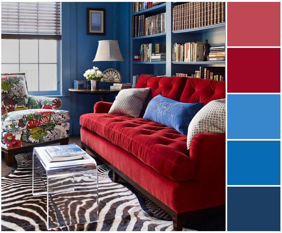 Красный цвет в интерьере (90+ фото) | особенности сочетания красного цвета с другими цветами в дизайне-интерьера