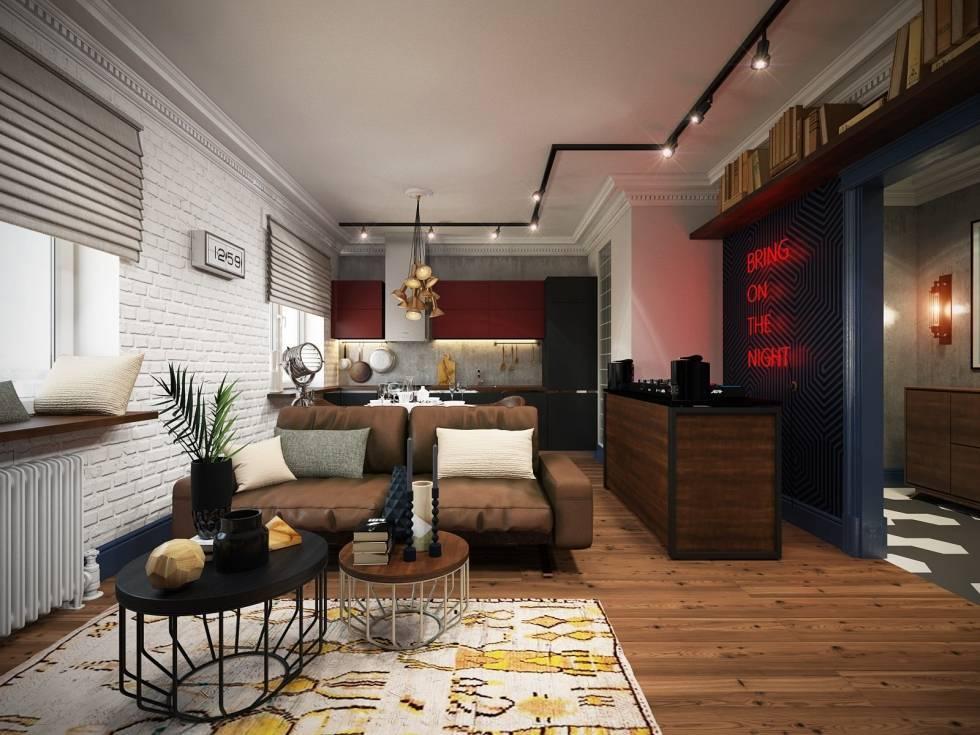 Как оформить квартиру-студию для холостяка: москва