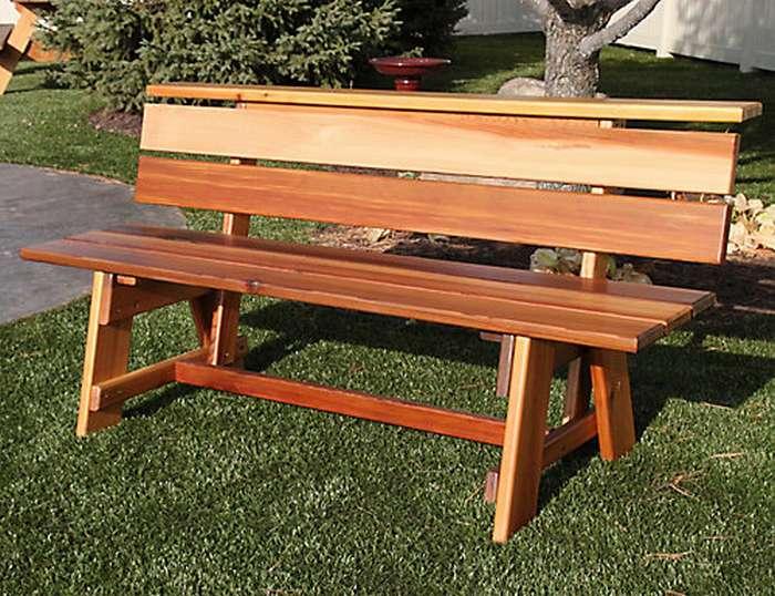 Всё об использовании деревянных лавочек и скамеек в ландшафтном дизайне