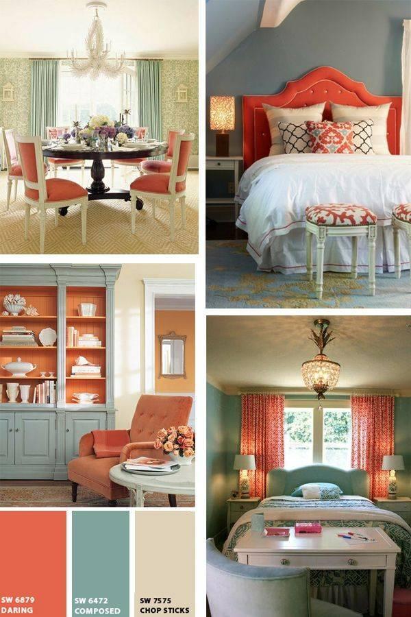 Сочетание серого цвета с другими цветами в интерьере: синим, белым, фиолетовым, коричневым и зеленым, яркие акценты в гостиной - 42 фото