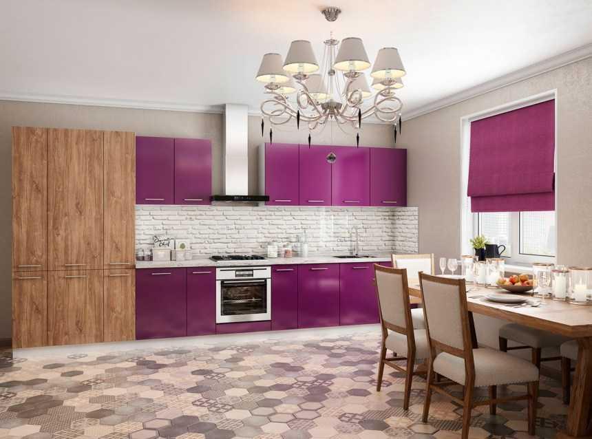 Фиолетовая кухня (80 фото): дизайн интерьеров, идеи для ремонта кухни