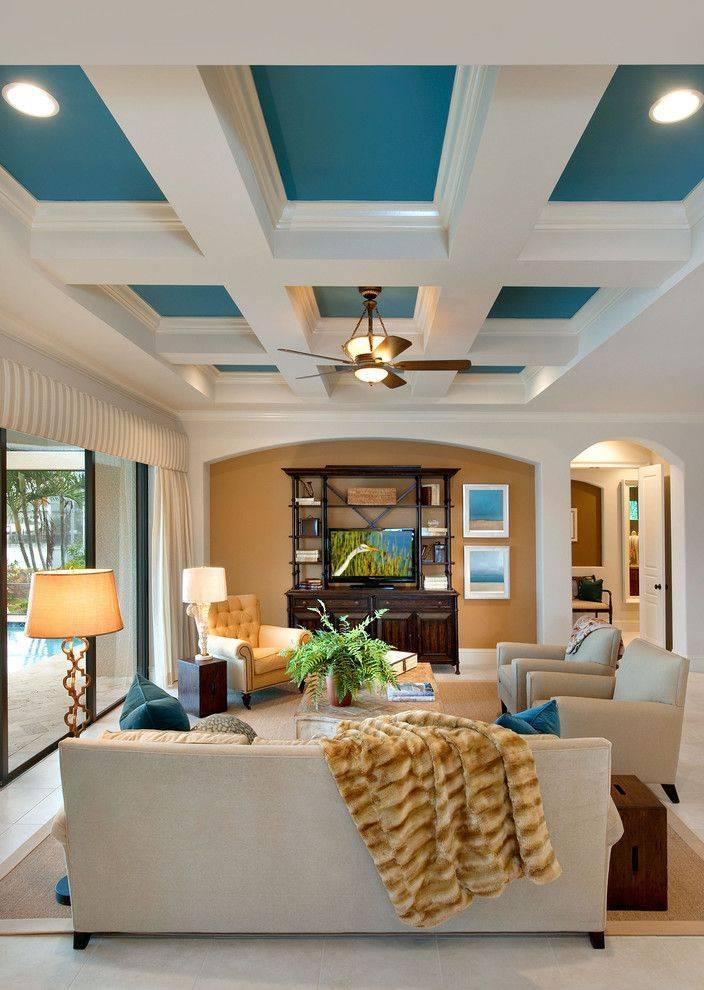 Дизайн потолка в спальне (150 фото) - примеры красивого и современного оформления