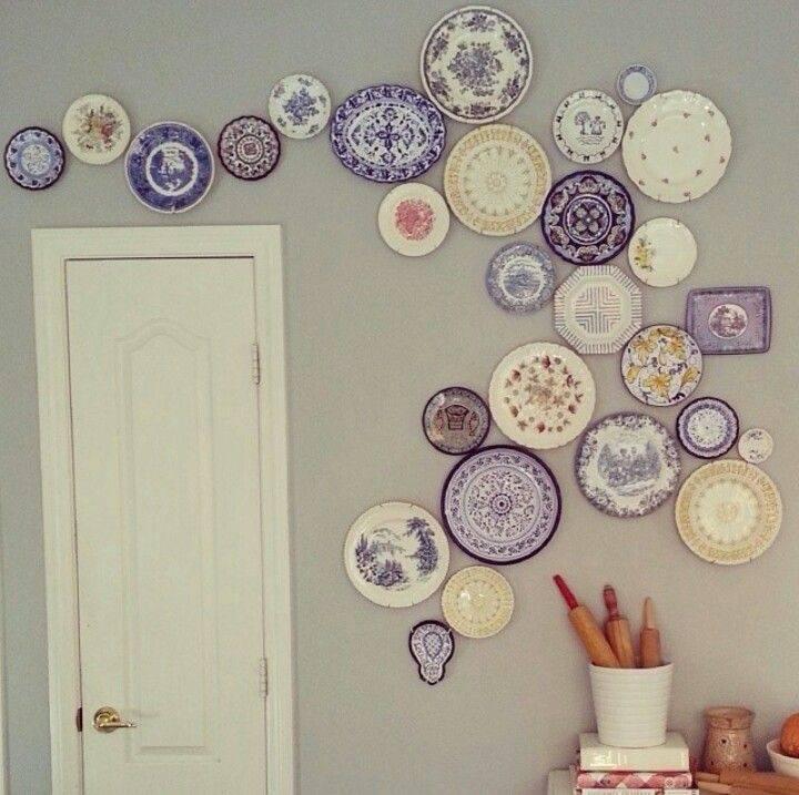 Украшаем стены декоративными тарелками +75 фото - «декор» » «дизайна интерьера»