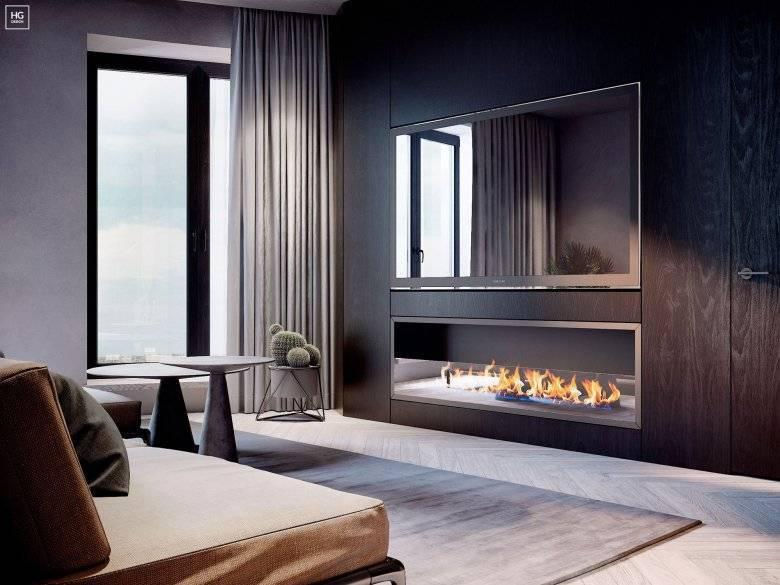 В интерьере камин (91 фото): оформление комнаты в квартире в современном стиле, красивые конструкции в гостиной, сколько стоит