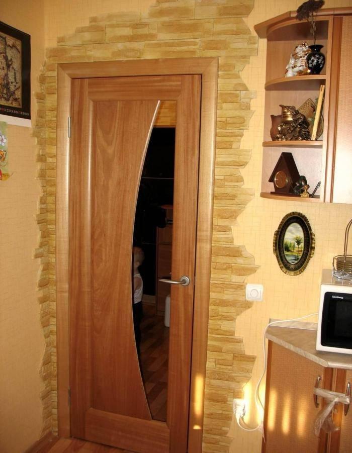 Способы отделки дверного проема искусственным камнем. описание процесса с фото и видео