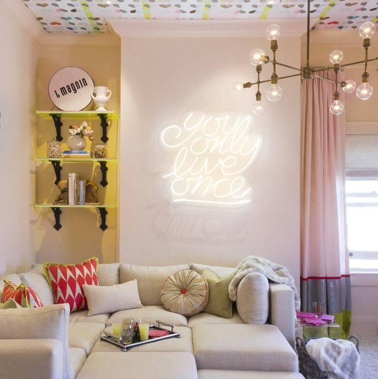 Комнатные растения и цветы в интерьере жилого дома: проект для гостиной  - 48 фото