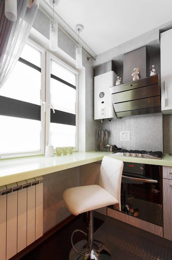 Дизайн кухни 6 кв м с холодильником и плитой (панелью): 37 реальных фото