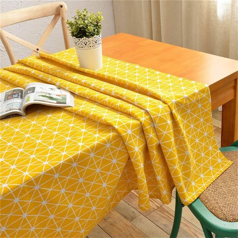 Скатерть на стол для кухни: описание, водоотталкивающая, с покрытием