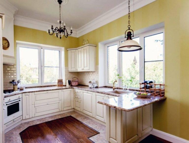 П-образные кухни с окном (60 фото): дизайн кухонных гарнитуров буквой «п», планировка кухонь с окном посередине и сбоку