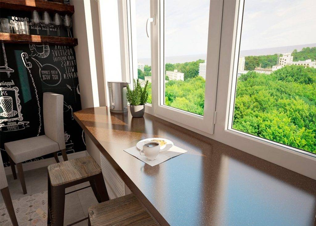 Столешница вместо подоконника на кухне | советы и рекомендации от специалистов