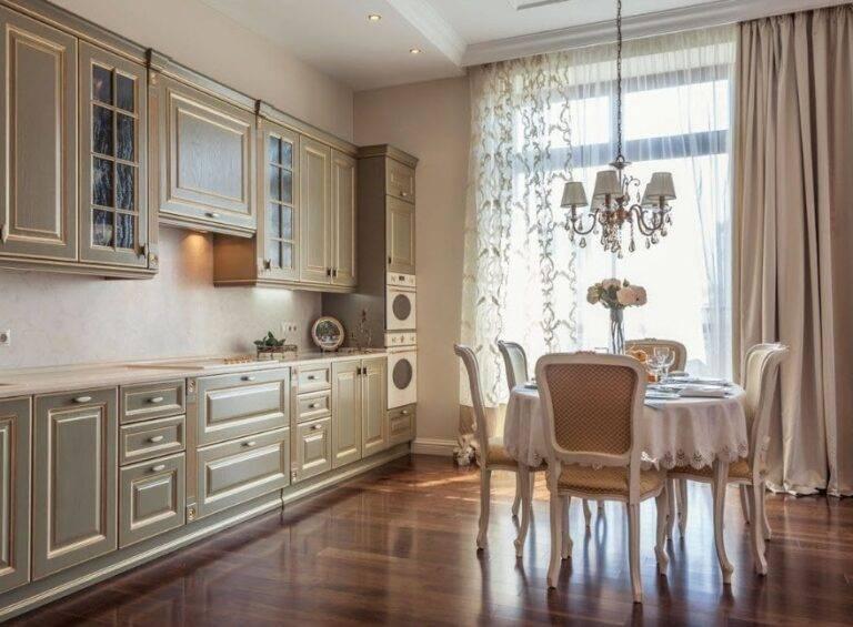 Как сделать дизайн кухни в классическом стиле — 25 вариантов интерьера