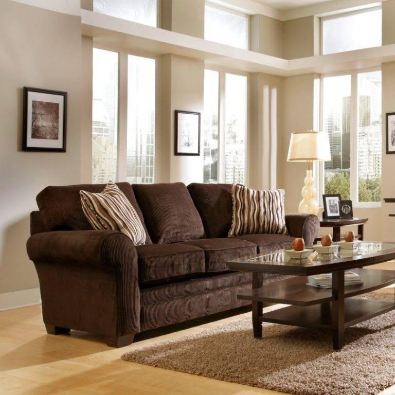 Коричневый диван: 155 фото лучших решений применения для создания уюта
