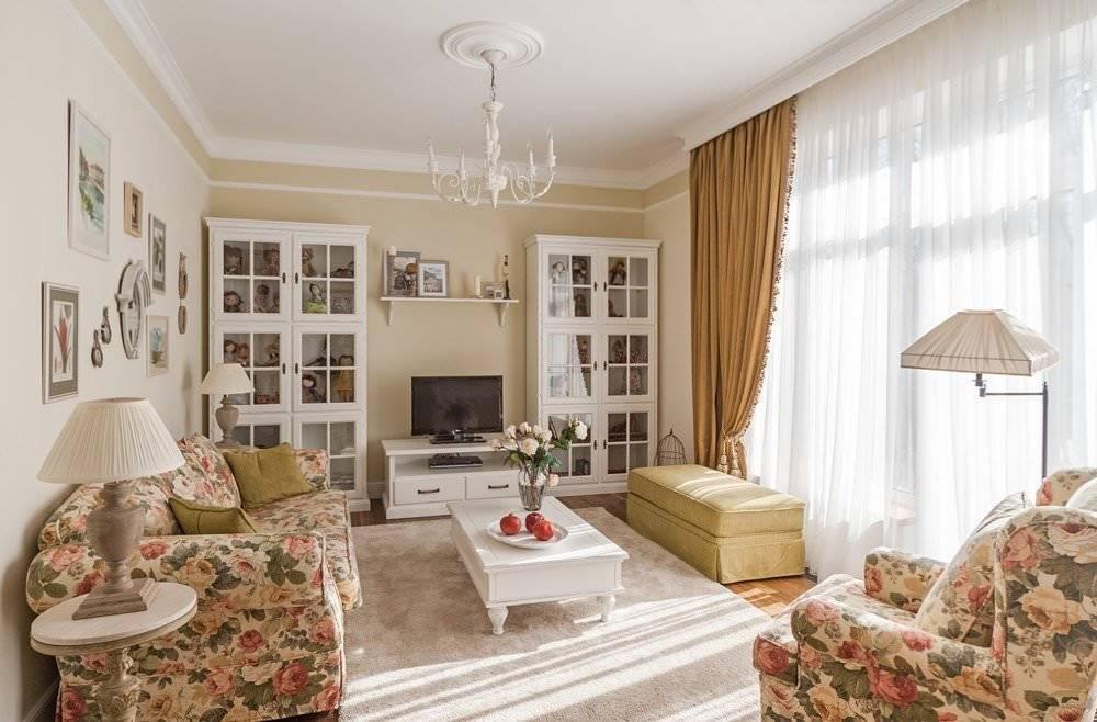Милая гостиная в стиле прованс - 46 фото примеров