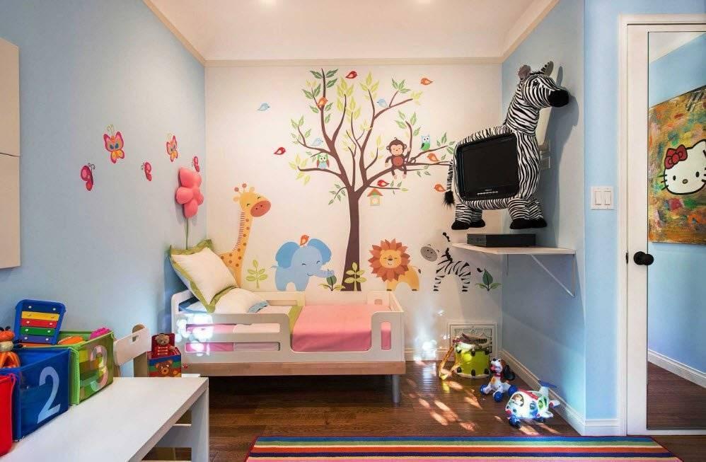 70 потрясающих идей: декор детской комнаты своими руками
