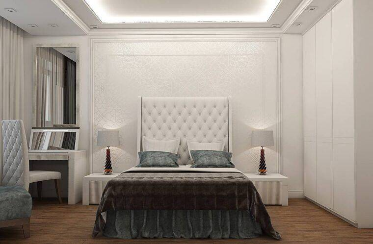 Спальня в стиле неоклассика (70 фото): дизайн интерьера в стиле неоклассицизм, белая мебель для маленькой комнаты