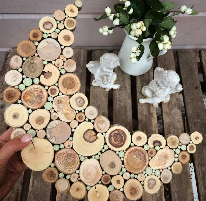 Укладка садовой дорожки из спилов дерева своими руками за день