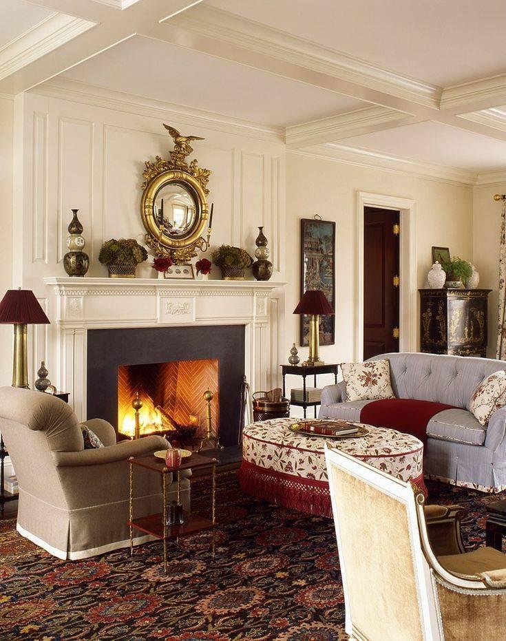Интерьер гостиной в стиле кантри с фото