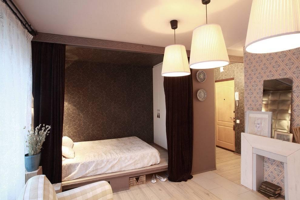 Как сделать спальную зону в однокомнатной квартире