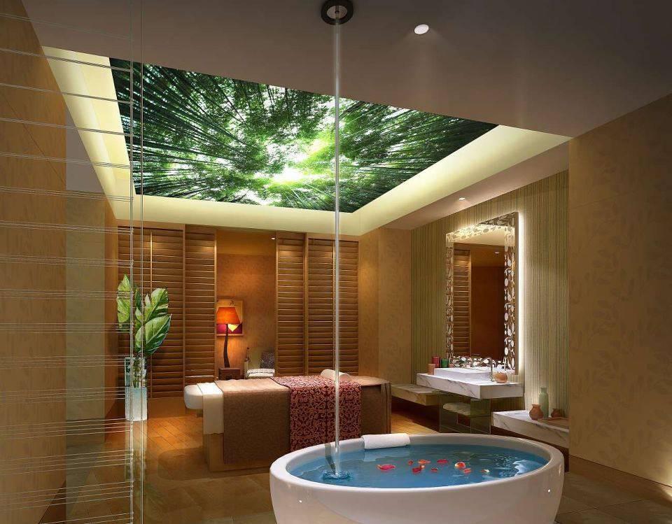 Какой выбрать потолок в ванной комнате