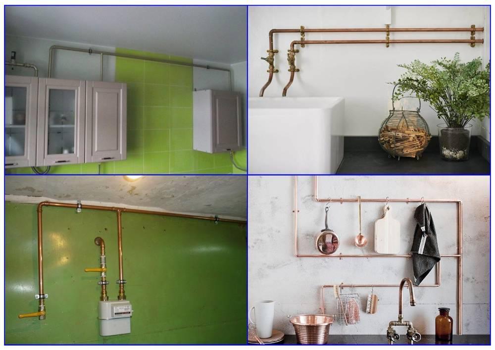 Как спрятать газовую трубу на кухне: идеи, советы, фото   всёокухне.ру