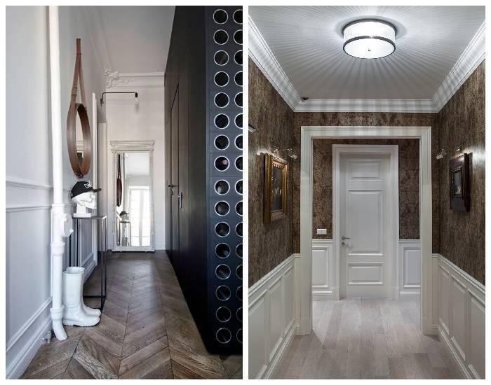 Примеры и варианты визуального увеличения узкого коридора