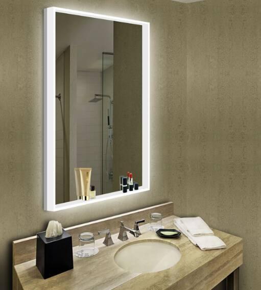 Зеркало с подсветкой (96 фото): круглое настенное изделие с лампочками по периметру, «акватон» со светодиодной подсветкой
