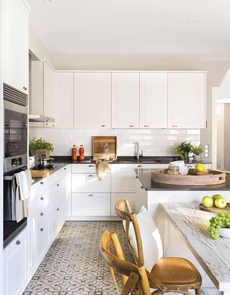 Черно-белая кухня, преимущества дизайна - фото примеров
